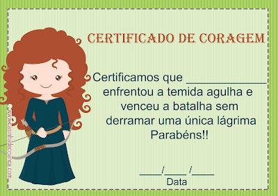 Certifica de Coragem Para Imprimir