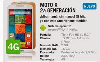 Moto X 2ª Generación con YOIGO: precios y características