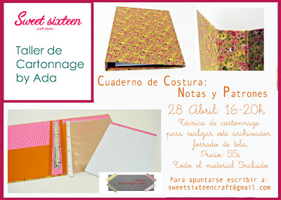 Taller de cartonnage en sweet sixteen craft store