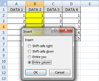 Fungsi entire column di excel