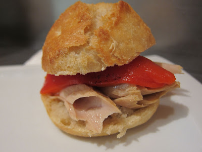 bocadillos with red pepper and tuna