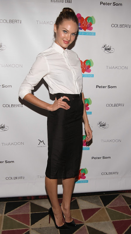 Candice Swanepoel attends  2012 Help By Design Fundraiser