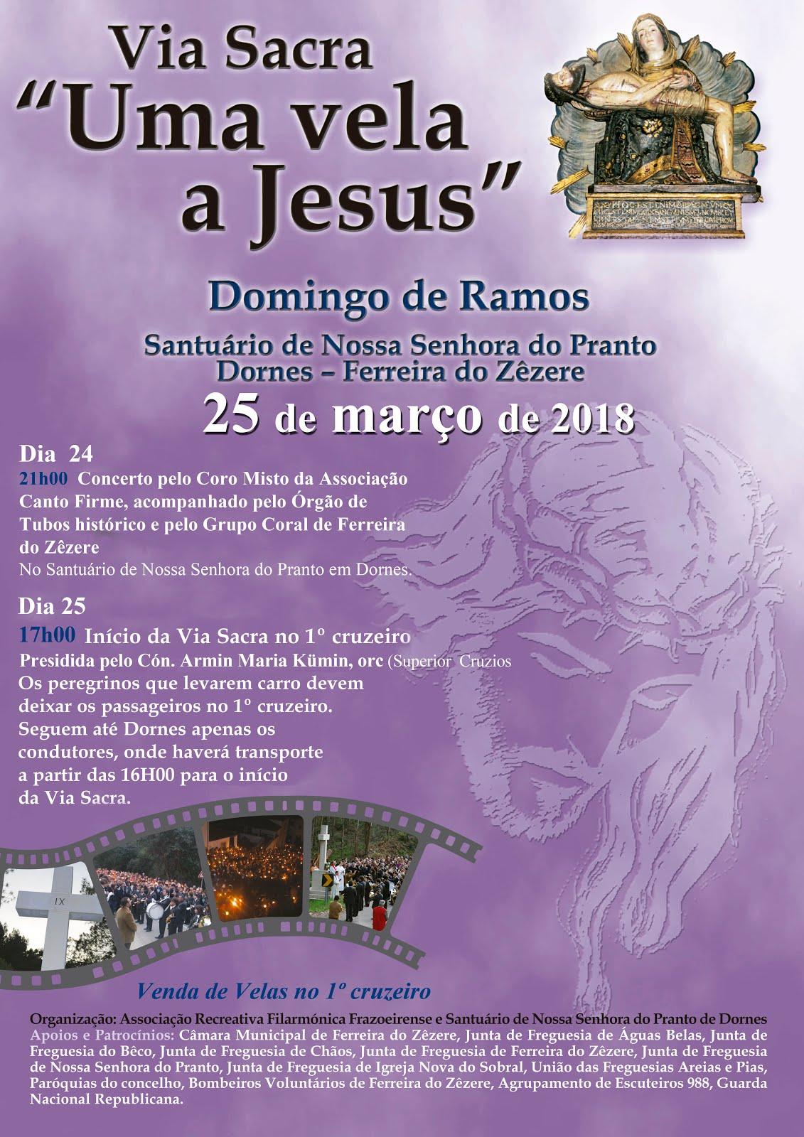 """Via Sacra """"Uma vela a Jesus"""" - Cruzeiros de Dornes 25de março, 17h"""