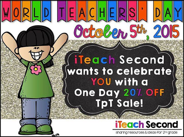 SALE at Reading and Writing Redhead's TPT Store for World Teacher Day!