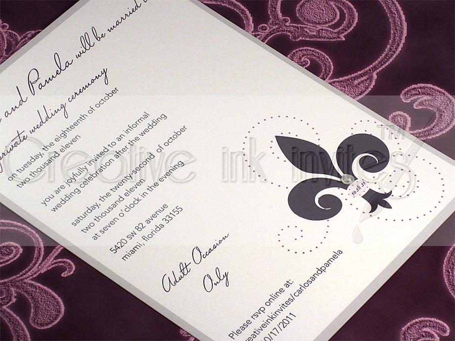 Purple And Grey Wedding Invitations is amazing invitations sample