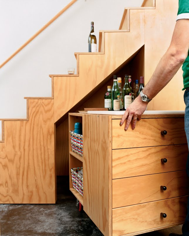 Under Stairs Kitchen Storage if your staircase is kitchen adjacent cutting in a fridge and dishwasher is a clever way to get full size appliances into what may otherwise be a compact 15 Creative And Clever Under Stair Storage Designs