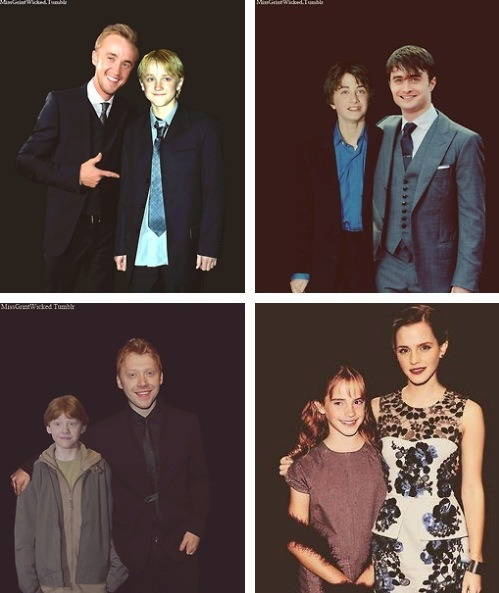 Industrial Light And Magic Harry Potter: Harry Potter Stars Stand With Their Younger Selves In This