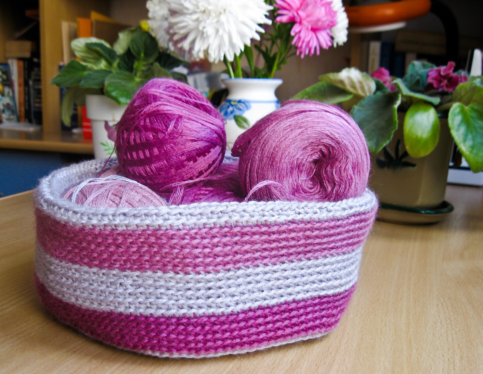 Вязание корзиночки крючком