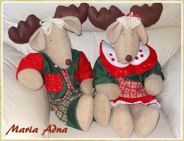 Decoração de Natal, As renas II, Renas de natal II, Natal