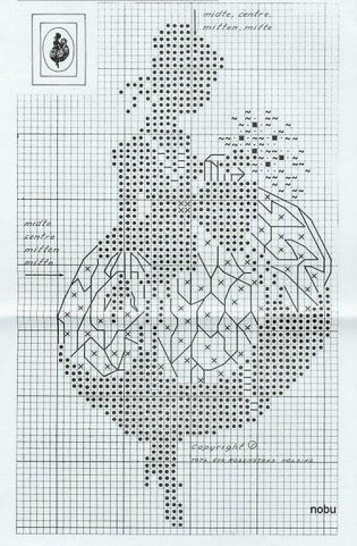 Монохромная вышивка крестом схемы новые: самое интересное 25