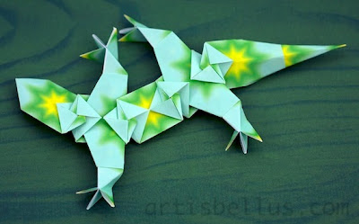 Origami Animals: Lizard