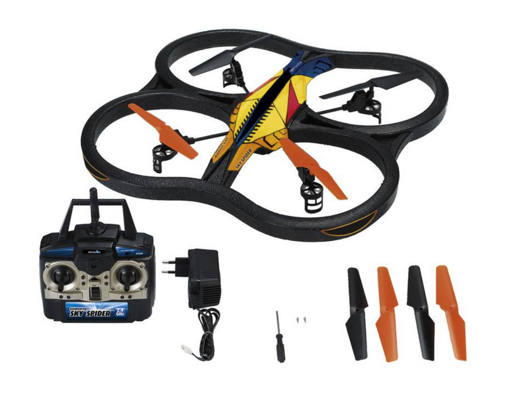 review revell sky spider quadcopter the test pit. Black Bedroom Furniture Sets. Home Design Ideas