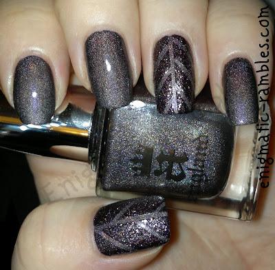 striping-tape-textured-polish-nails-nail-art-a-england-ascalon-sleeping-palace-barry-m-countess