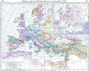 Mapa das Pricipais Cruzadas