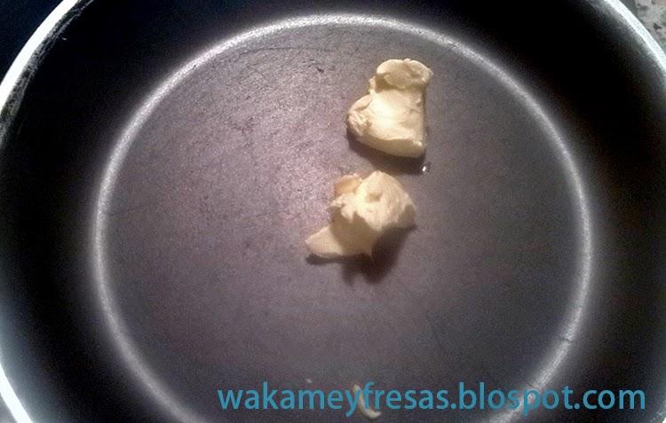 mantequilla en la sarten