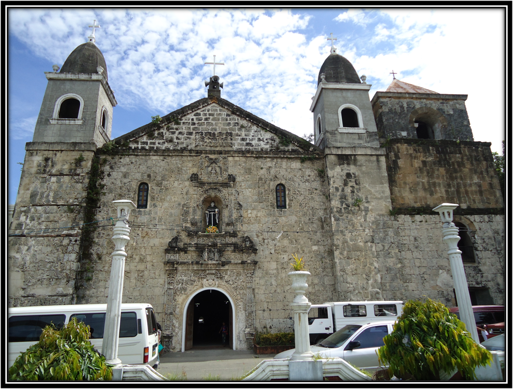 Iloilo home of spanish era churches tigbauans facade is style in the mexican architecture at the center is a seal of the augustinian order surrounded by a retablo like floral frieze sciox Choice Image