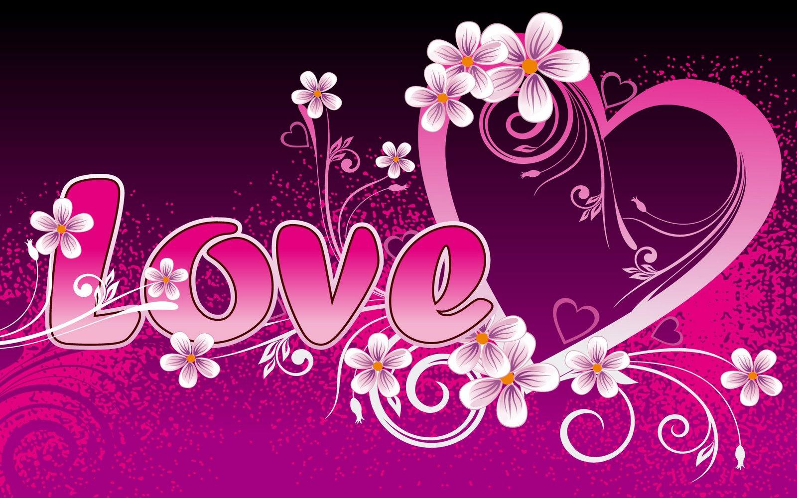 new wallpaper on 2012: beautiful pink love art wallpapers