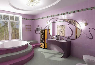 purple color for bathroom