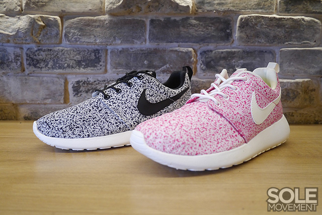 Nike Roshe Run Pink And White Speckled