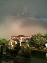 Dusty Haboob Rolling Into Our Neighborhood