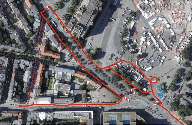 Radverkehrsführung Budapester Straße - Simon-von-Utrecht-Straße