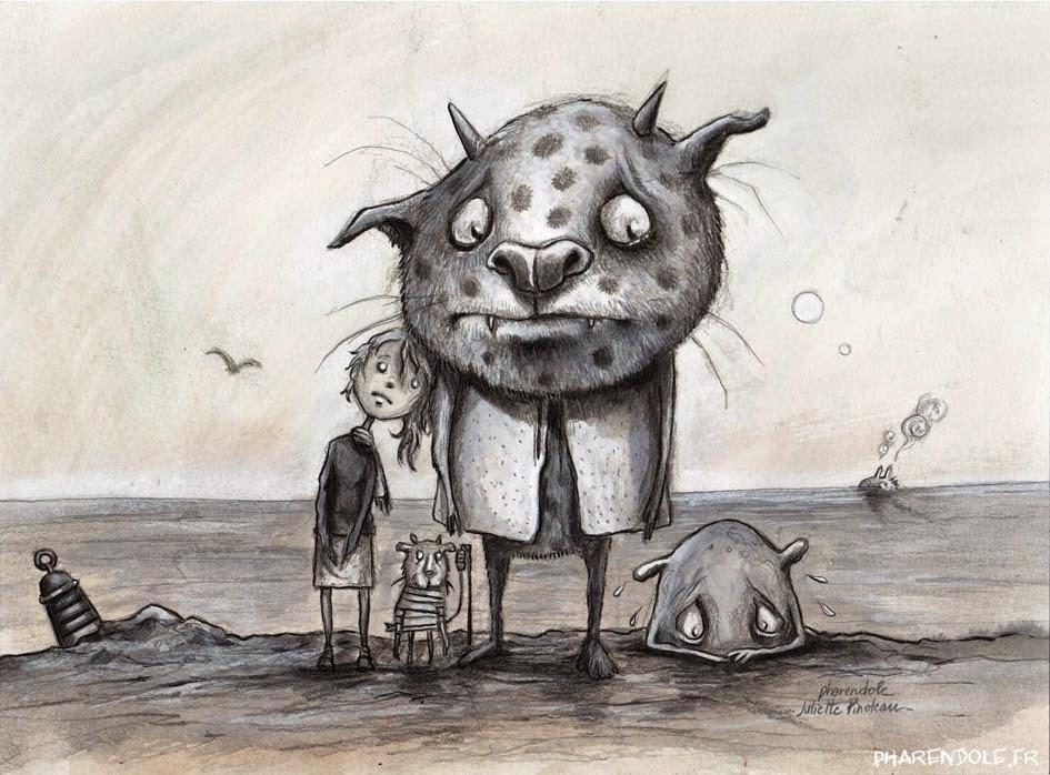 l'île de Pharendole et ses monstres gentils