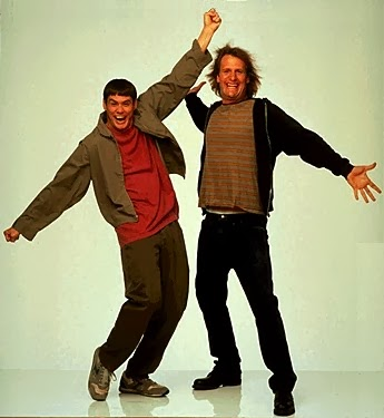 Dumb & Dumber: Jim Carrey & Jeff Daniels.