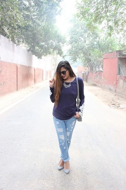 fashion, how to style distressed denim, how to style boyfriend jeans, winter fashion trends 2015, CNDirect, cheap lace top, delhi blogger, delhi fashion blogger, indian blogger, lazy winter outfit, winter must haves, beauty , fashion,beauty and fashion,beauty blog, fashion blog , indian beauty blog,indian fashion blog, beauty and fashion blog, indian beauty and fashion blog, indian bloggers, indian beauty bloggers, indian fashion bloggers,indian bloggers online, top 10 indian bloggers, top indian bloggers,top 10 fashion bloggers, indian bloggers on blogspot,home remedies, how to