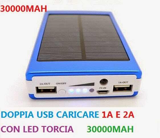 Pannello Solare Portatile Per Pc : New mah power bank batteria caricatore solare per