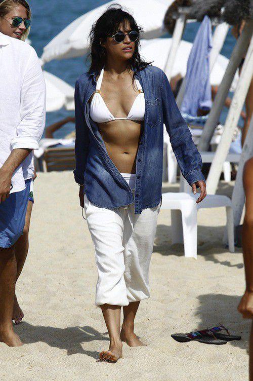 Michelle Rodriguez in Saint-Tropez
