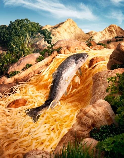 25-Salmon-&-Pasta-Foodscapes-British-Photographer-Carl-Warner-Food- Vegetables-Fruit-Meat-www-designstack-co