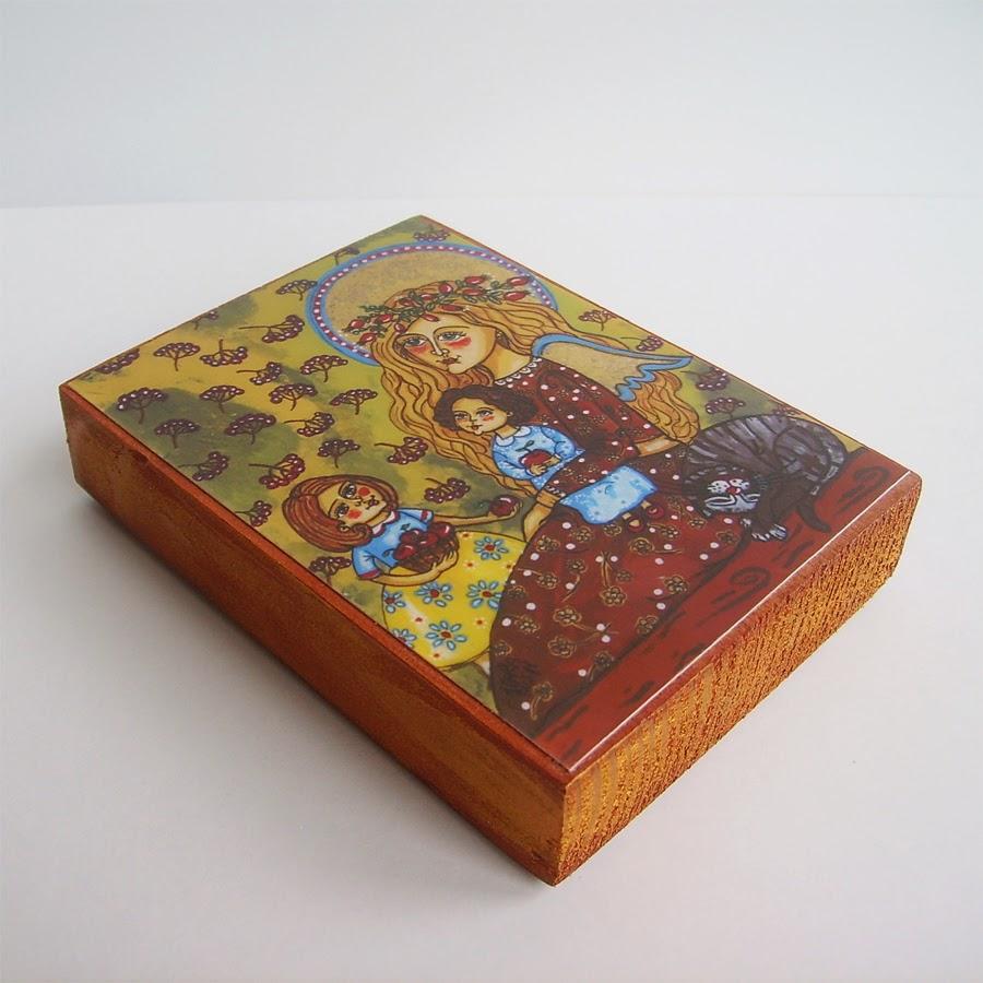 Drewniany obrazek obraz ilustracja dla dziewczynki dziecka prezent upominek na gwiazdkę ozdoba dekoracja bożonarodzeniowa świąteczna Boże Narodzenie anioł aniołek dziecko pamiątka chrztu chrzest pierwsza komunia narodziny urodziny dzieci jesień