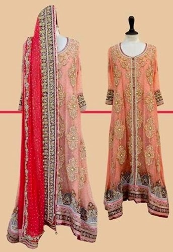 Mosaic Embroidered Dresses for Bridal