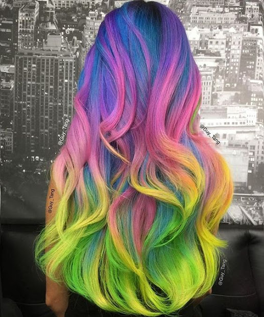 crazy rainbow hairstyles