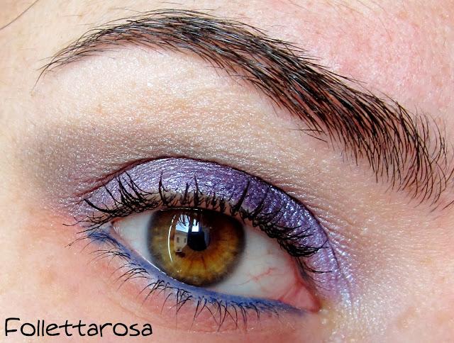 make up blu e viola