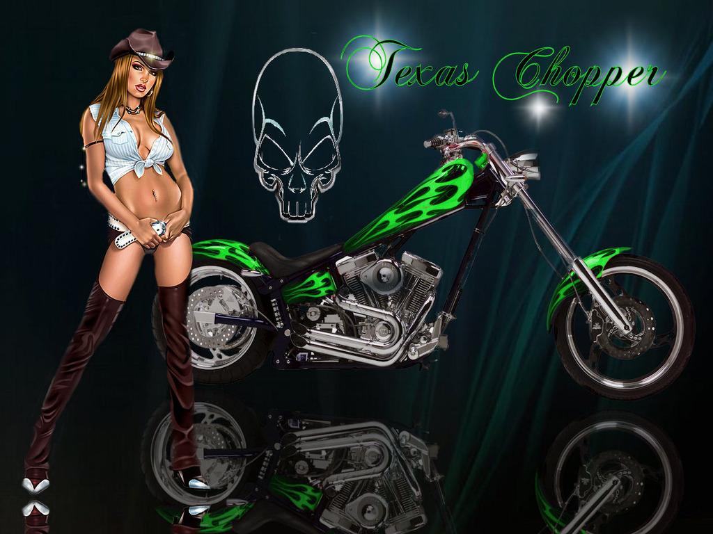 Cool Harley Davidson Chopper Bike Wallpaper