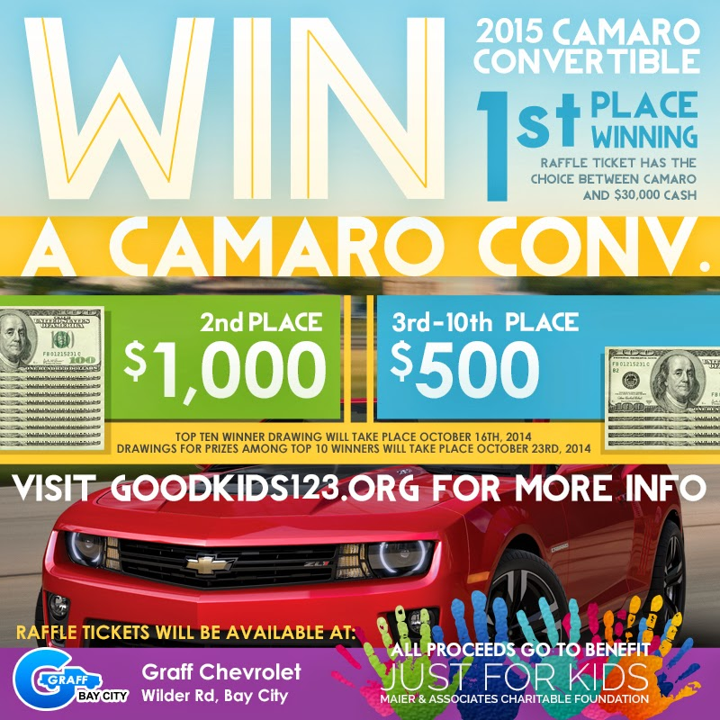 Just For Kids Win A Camaro Raffle