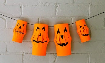 halloween decorations can be a fun craft project for kids try making these halloween paper lanterns to string up around your house for halloween - Halloween Paper Decorations