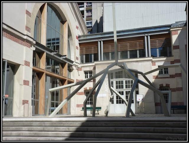 Sculpture hall d'entrée 104 Cent Quatre Paris 19ème