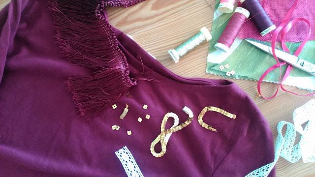 DIY Camiseta con collar de flecos Missy Sale