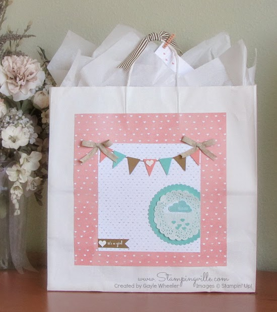 DIY Baby Shower Keepsake Gift Bag | Stampingville #papercrafts #gifts #StampinUp