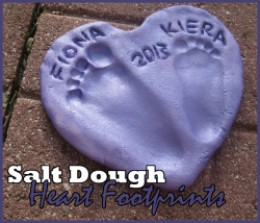 http://roamingrosie.hubpages.com/hub/salt-dough-footprint-heart