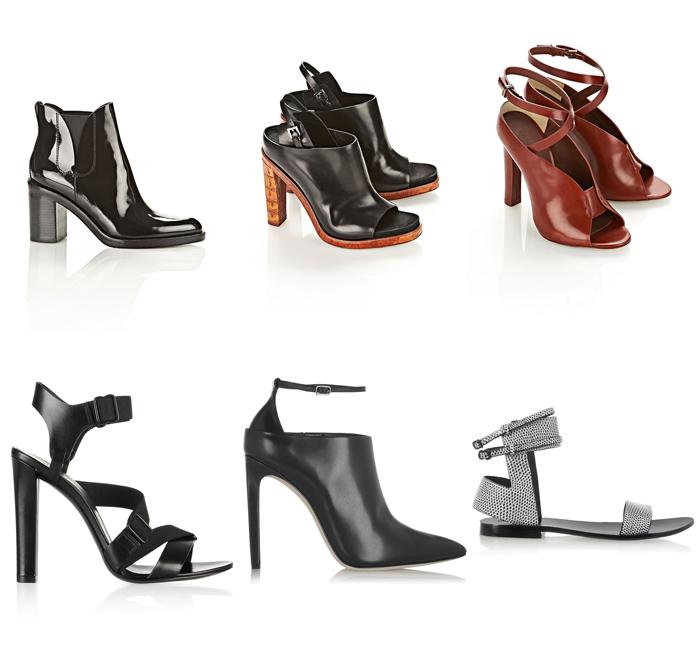Diseños de zapatos botines modernos minimalistas urbanos femeninos de Alexander Wang