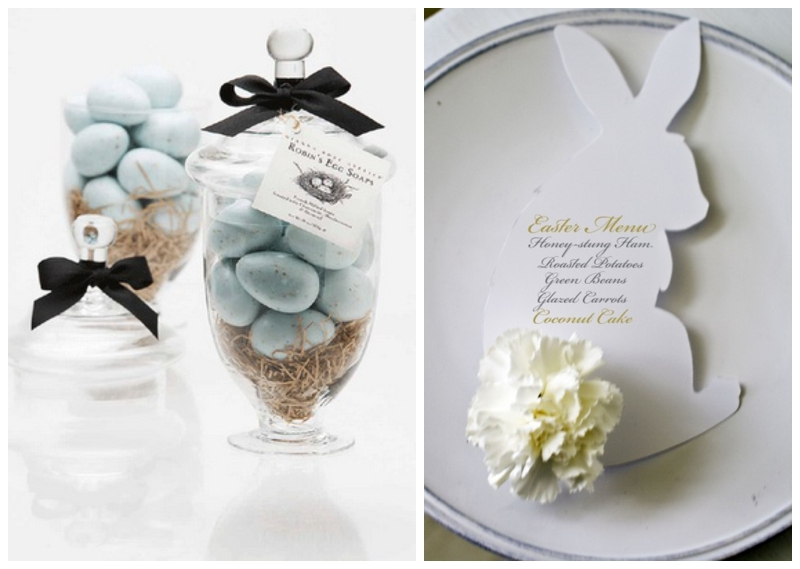 easter wedding theme inspiration Easter Wedding Favor Ideas {photo credit} place cards & egg basket wedding favour by fairy folk, $60 for 20 easter wedding favour ideas