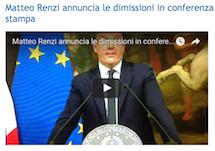 Matteo Renzi annuncia le dimissioni in conferenza stampa