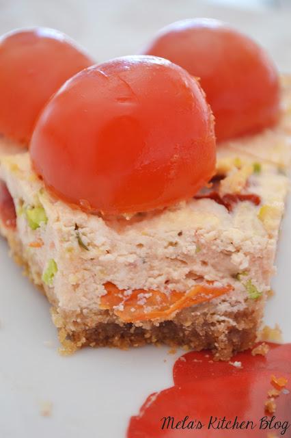 cheesecake salata con pomodori secchi al profumo di limone