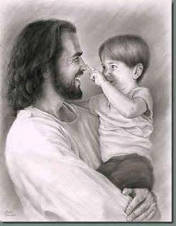Selon vous... Jésus riait-il parfois ? Jesus+laughing+with+toddler