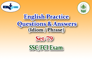 Practice English Questions (Idiom and phrase)