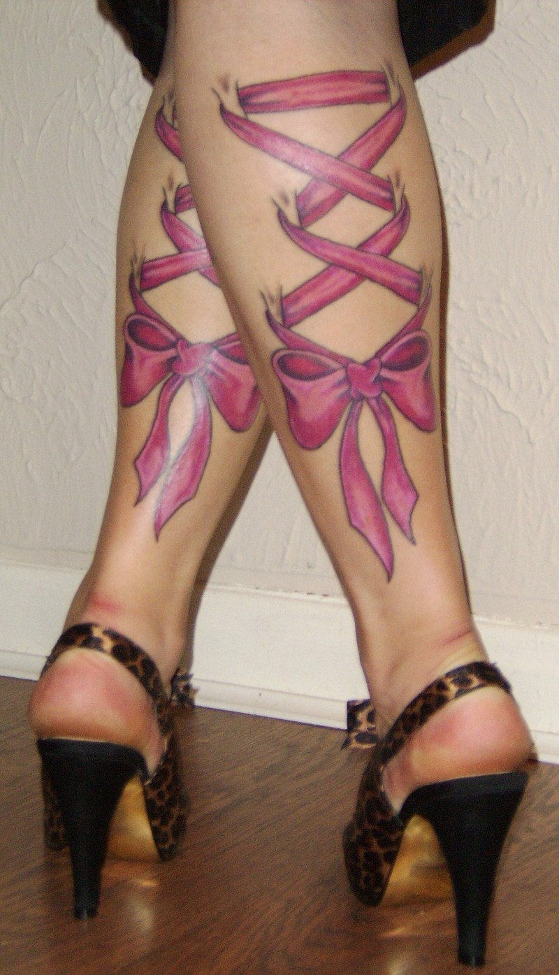 Tattoo Design: Tattoo on Leg For Girls