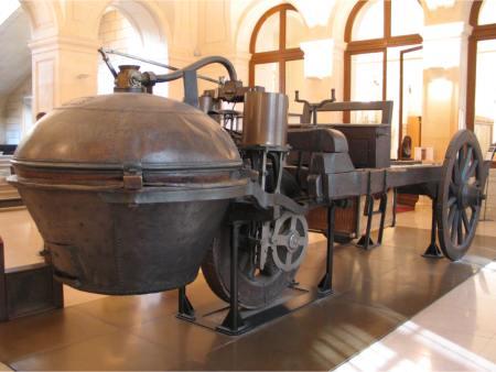 Masina lui Nicolas-Joseph Cugnot de la Muzeul de arte si meserii